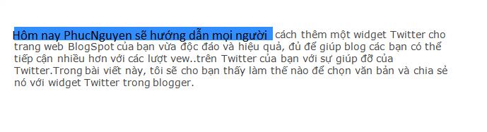 chia se len Twitter cho blogger