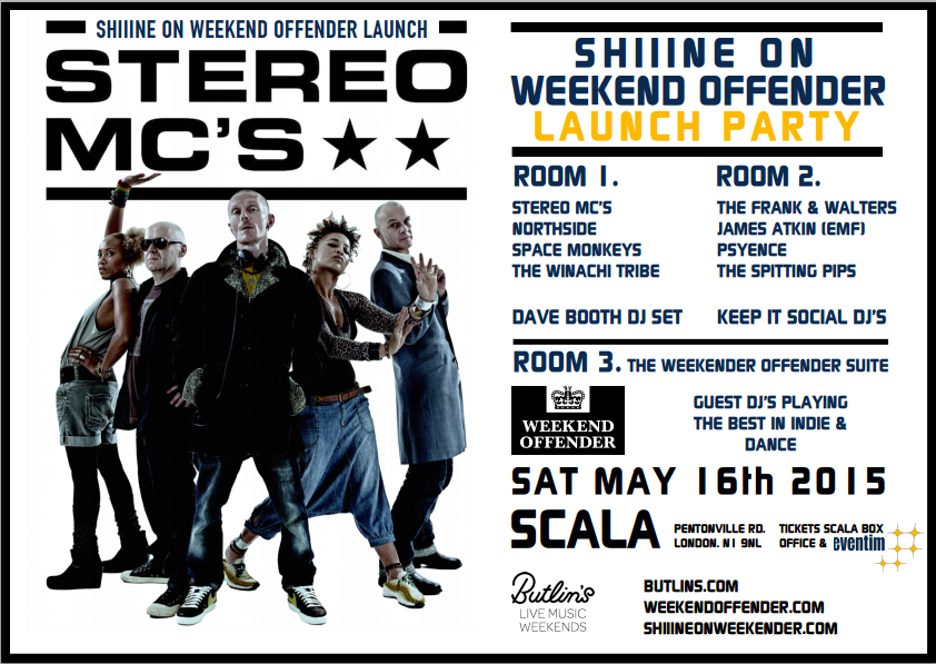 Stereo Mc's headline Shiiine On Weekender  Londons Scala