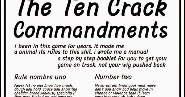 notorious big 10 crack commandments  google