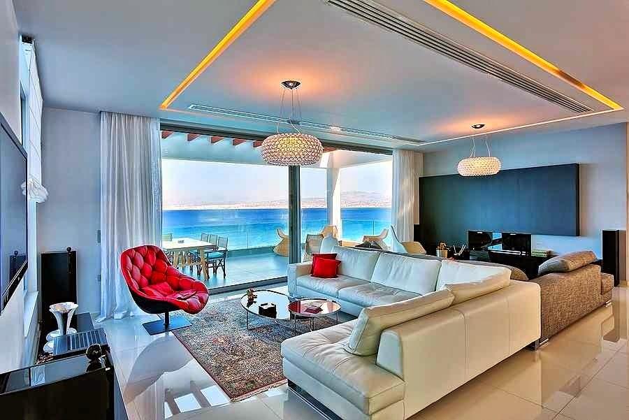 Casa de playa en isla creta con impresionantes vistas al for Arquitectura moderna casas interiores