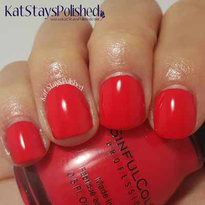 SinfulColors - A Class Act - Energetic Red | Kat Stays Polished