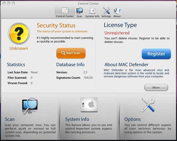 Is the mac spyware removal utility phone popup screen