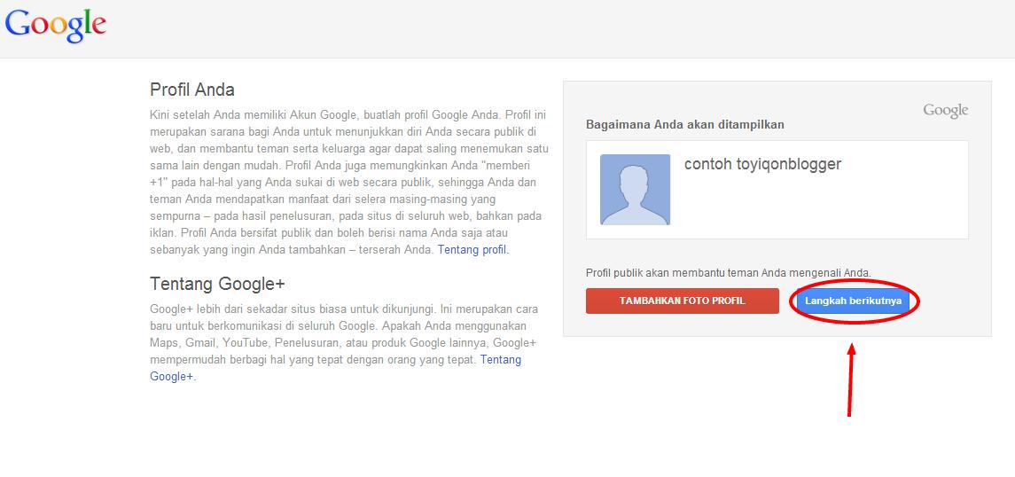 ... benar, akan ada ucapan sambutan dari Google. Klik LANJUTKAN KE GMAIL