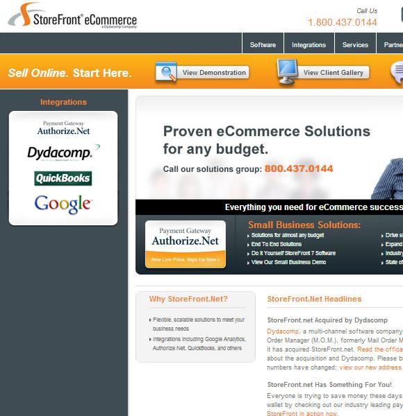 Ecommerce Website Name : StoreFront Ecommerce