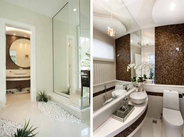 Construindo minha casa clean banheiros lavabos modernos for Fotos lavabos