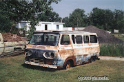 Early 1960s Ford Econoline Falcon window van was found parked on the lawn. (picton copy)