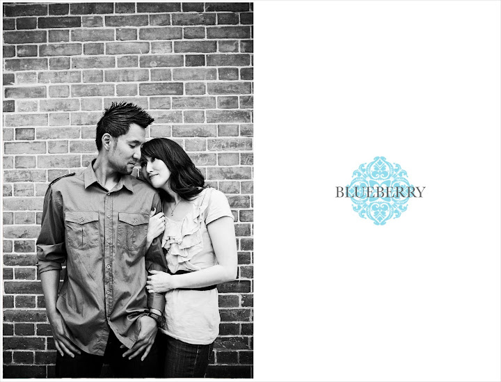 Bay Area brick wall black and white engagement photography session at fort point