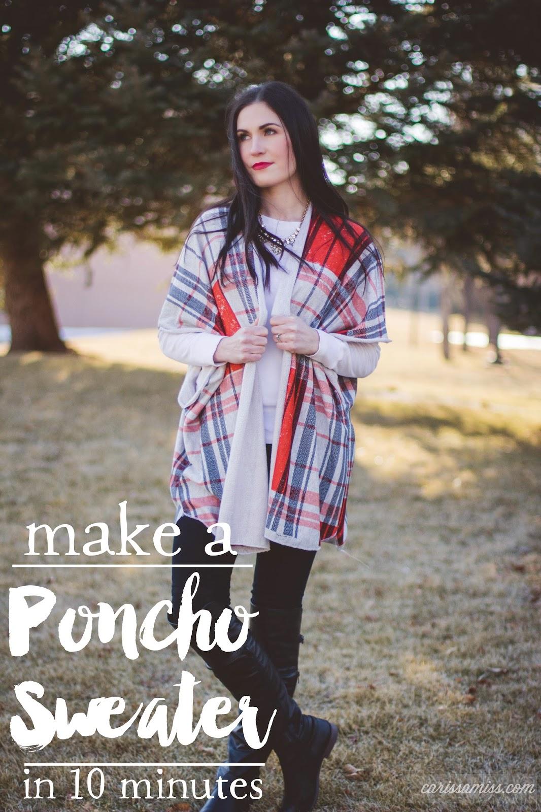 DIY Poncho Sweater