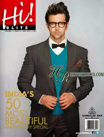 Hrithik Roshan on Hi Blitz Magazine's November 2013 Edition