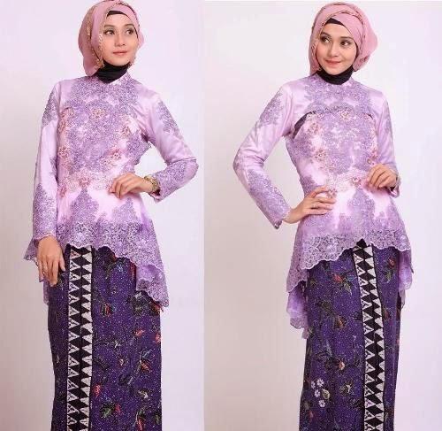 Contoh Model Gaun Kebaya Batik Muslim Terkini