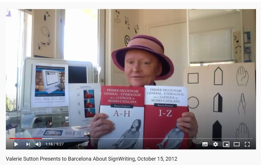 Presentació a la UB de Valerie Sutton des de San Diego (California). 15-10-12