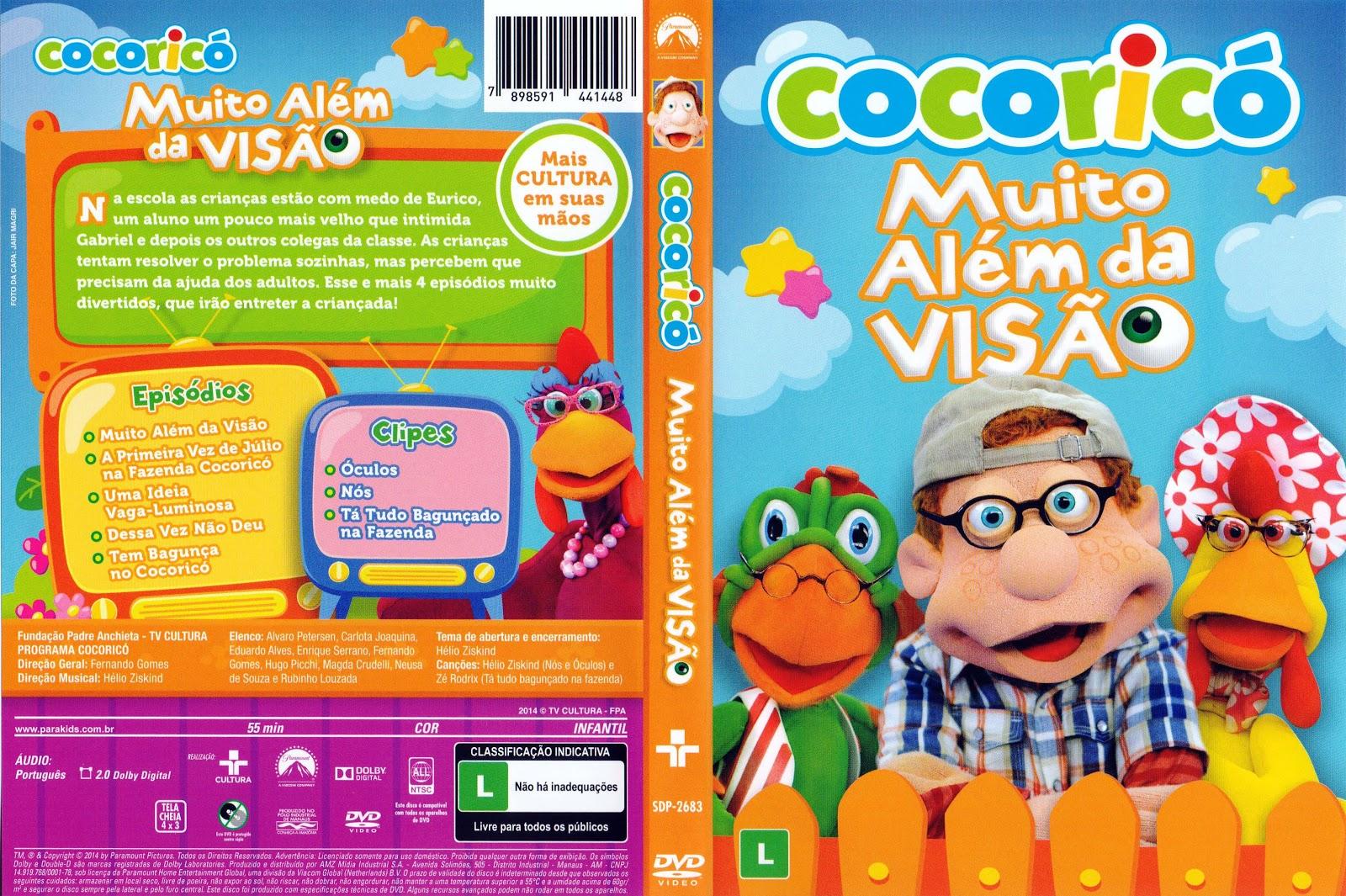 Capa DVD Cocoricó Muito Além Da Visão