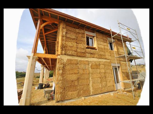 G nie civil charpentes b ton arm ing nierie maison en for Autoconstruction maison en paille