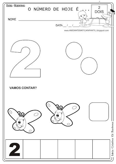 Atividade Numeral 2 Educação Infantil Pocoyo .