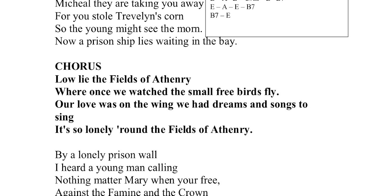 Play Your Part Fields Of Athenry