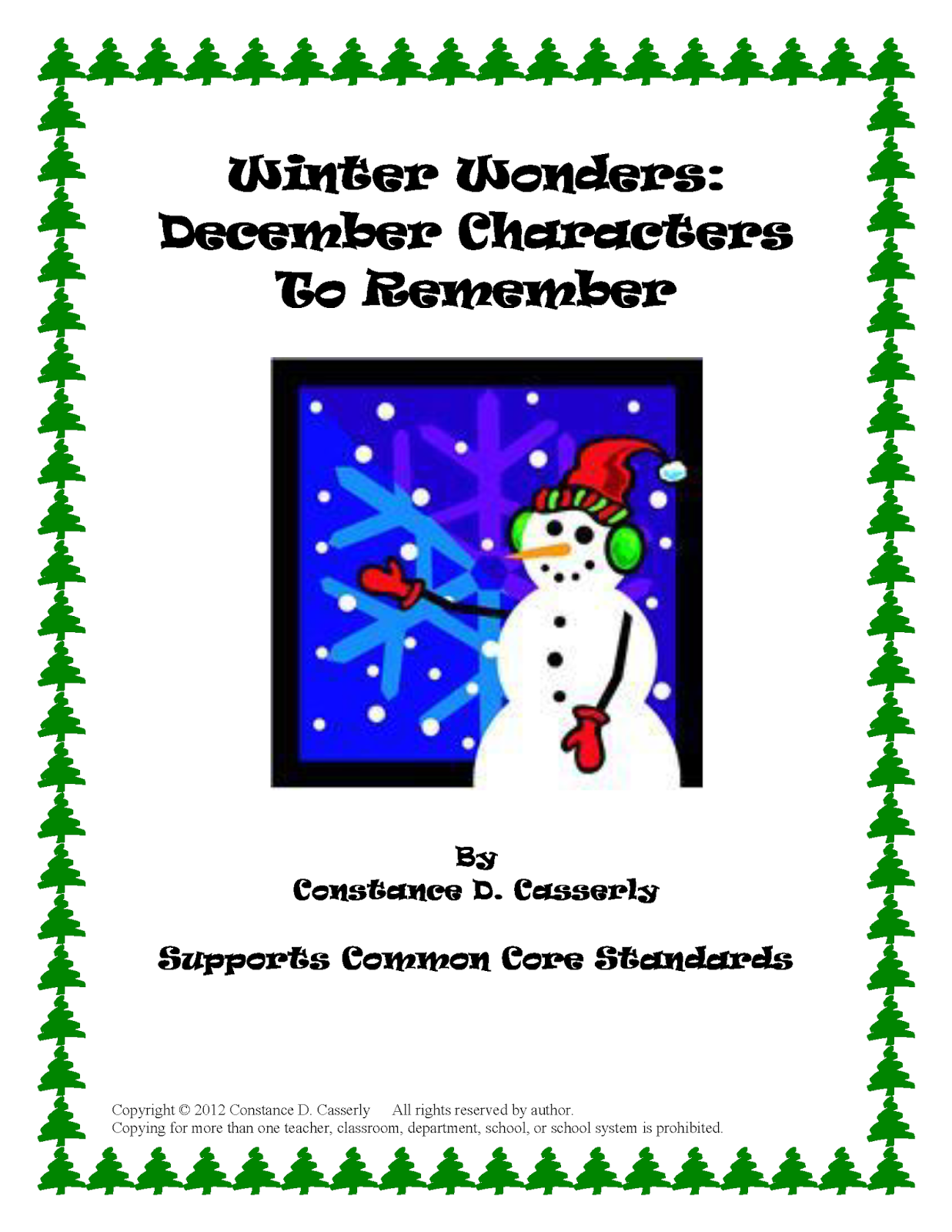 "Activity: Winter Wonders ""December Character Project"""