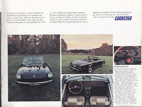 1975 Fiat 124 Spider Specs