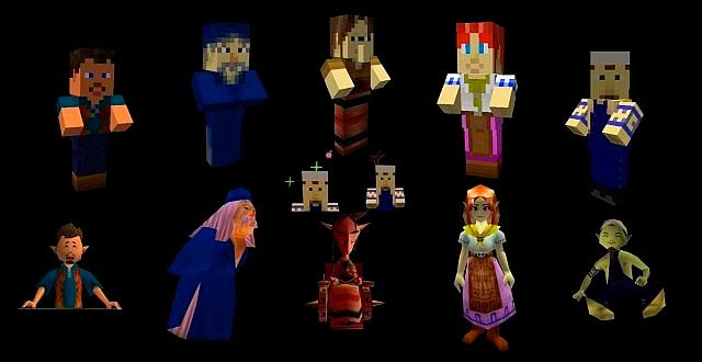 Ocarina of Time y Majora's Mask Texture Pack personajes