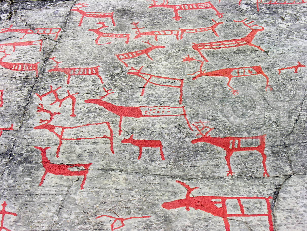 The rock drawings of alta norway traveling tour guide