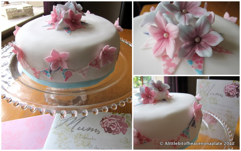 A Little Bit Of Heaven On A Plate Bunting Cake For A Queen