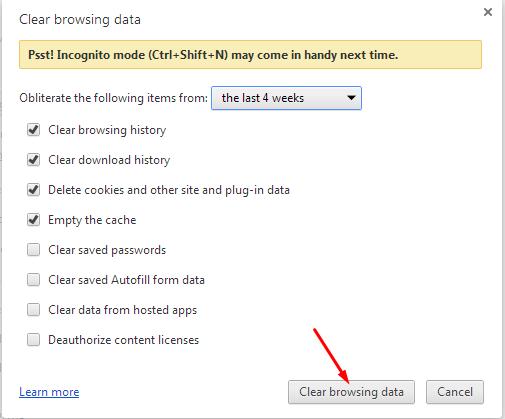 Cara Menghapus Cache Pada Browser Google Chrome