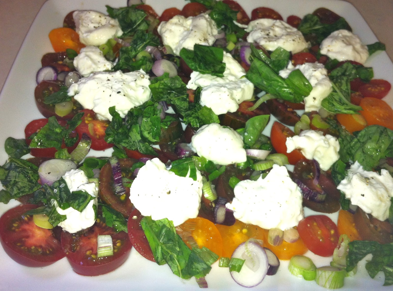 heirloom tomato salad caprese corn salad caprese salad with burrata ...