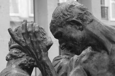 grupo escultorico, burgueses calais