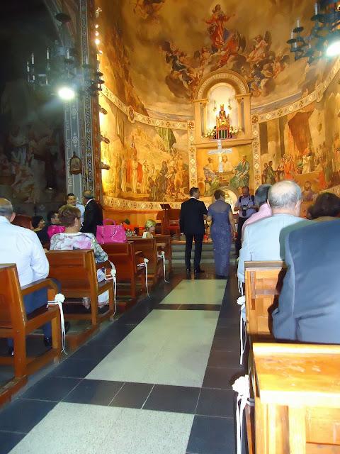 La llegada del novio a la iglesia