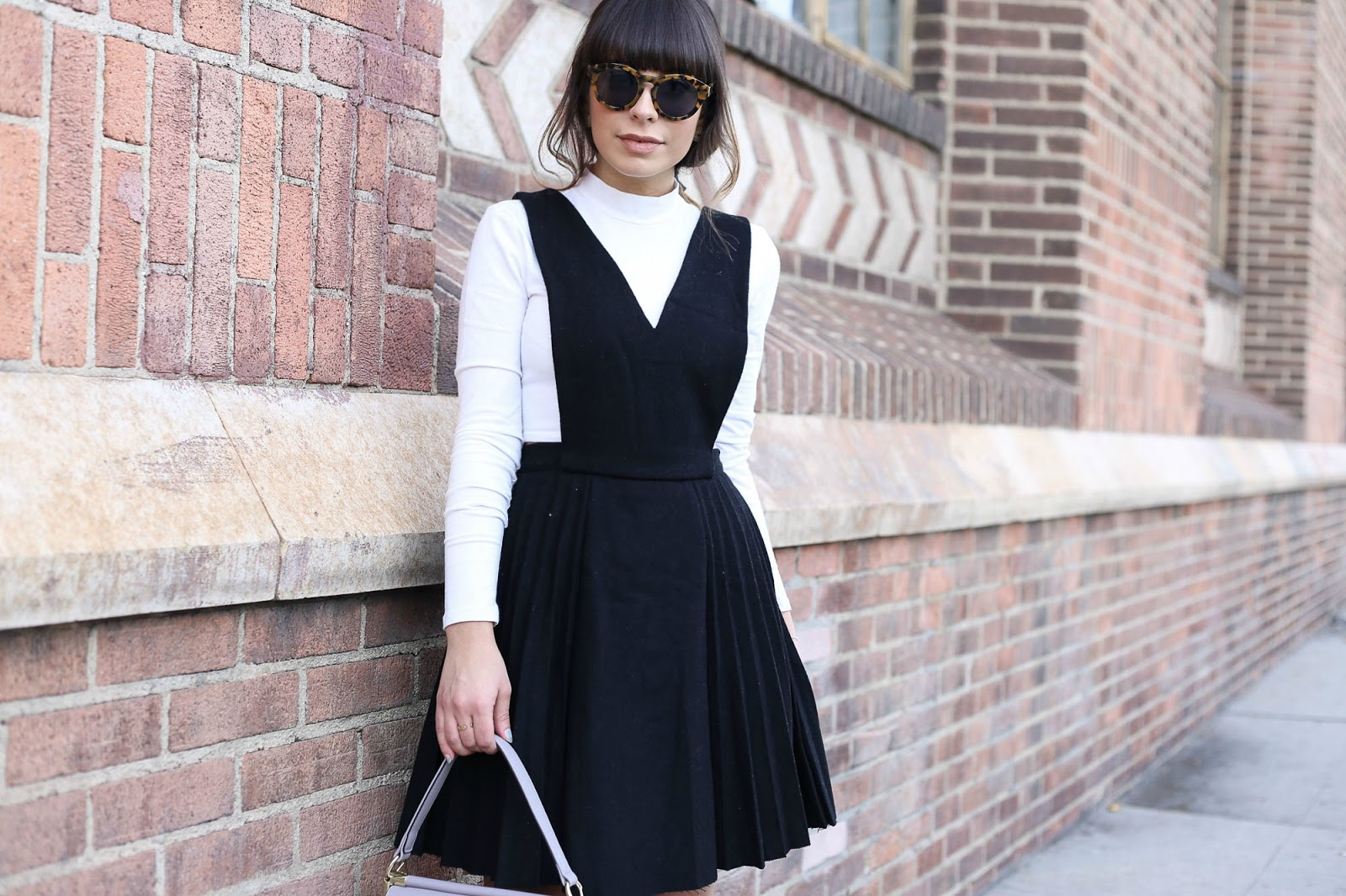 Image result for turtleneck with overall dress