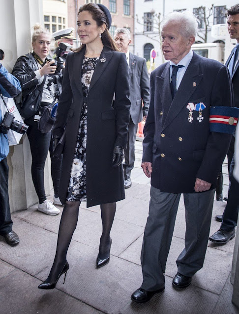 Crown Princess Mary and Crown Prince Frederik attended the memorial service of connection with 70th anniversary of the Denmark's liberation from Nazi German occupation at Copenhagen Cathedral