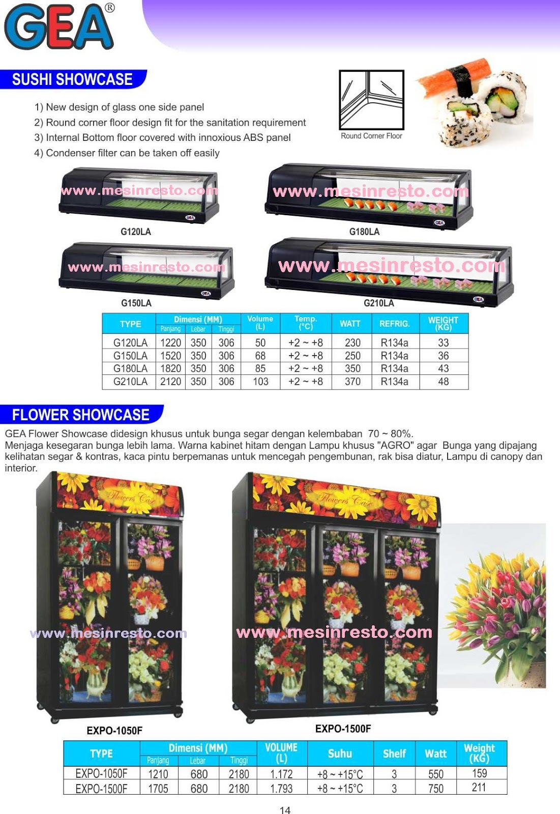 Jual Showcase Display Cooler Chiller dan Freezer ; Agen Distributor