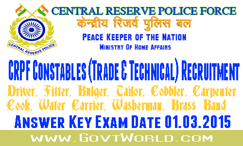 CRPF Constable Technical Trade Answer Key