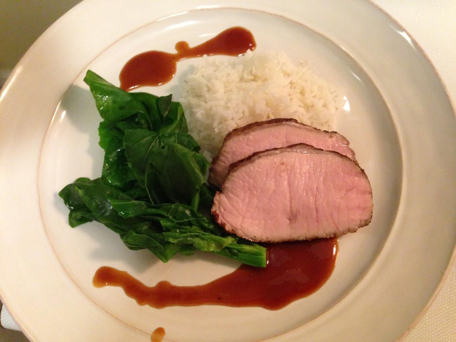 ... chinese five spice gailan hoisin pork loin sous vide sous vide supreme