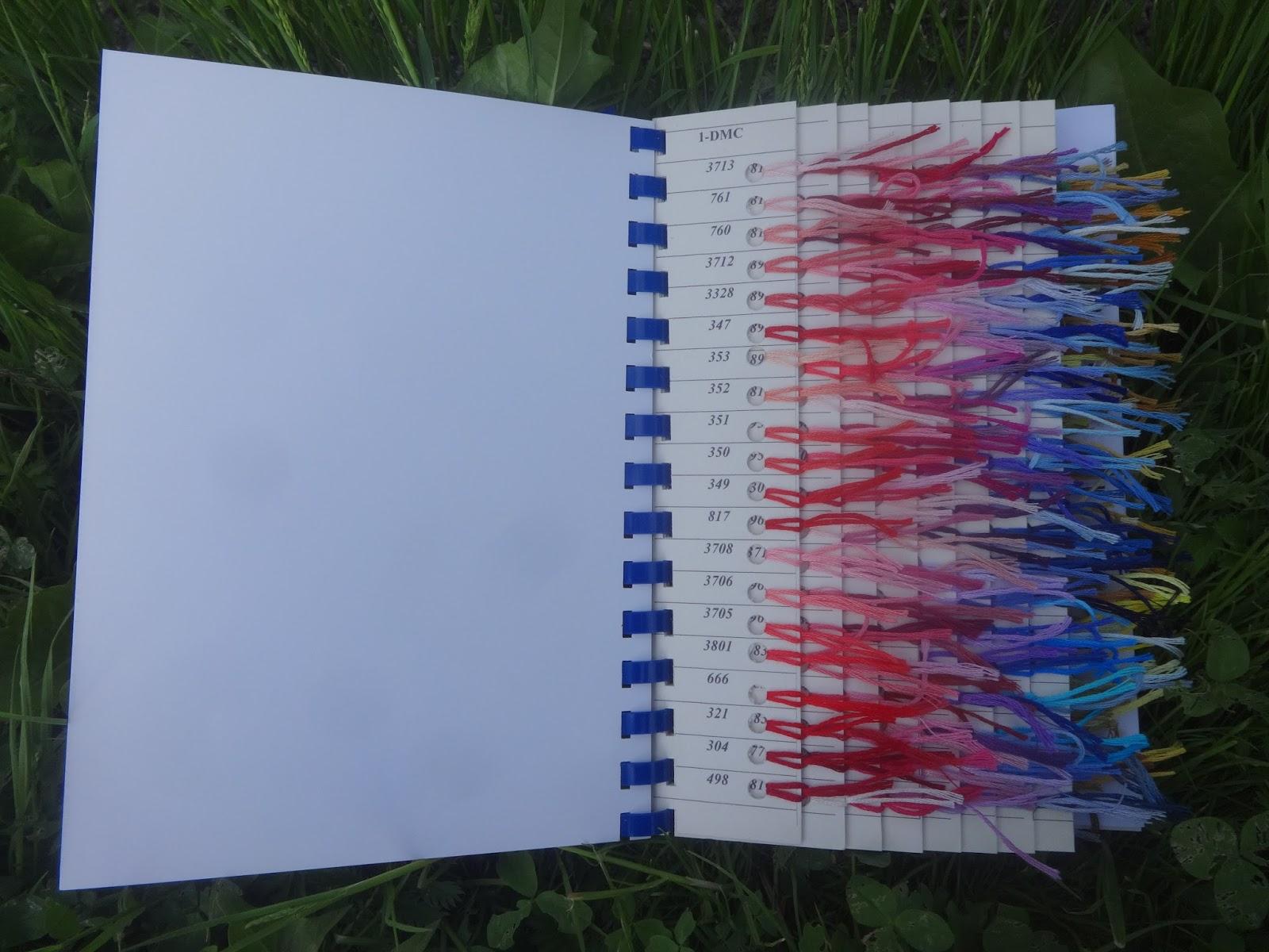 Живая карта цветов мулине своими руками 25