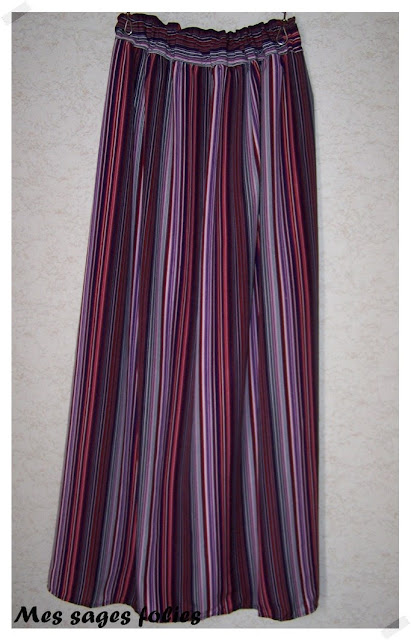 maxi jupe colorée/colorful maxi skirt