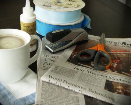 Reaproveitamento e reciclagem: Cesta de jornal - PAP