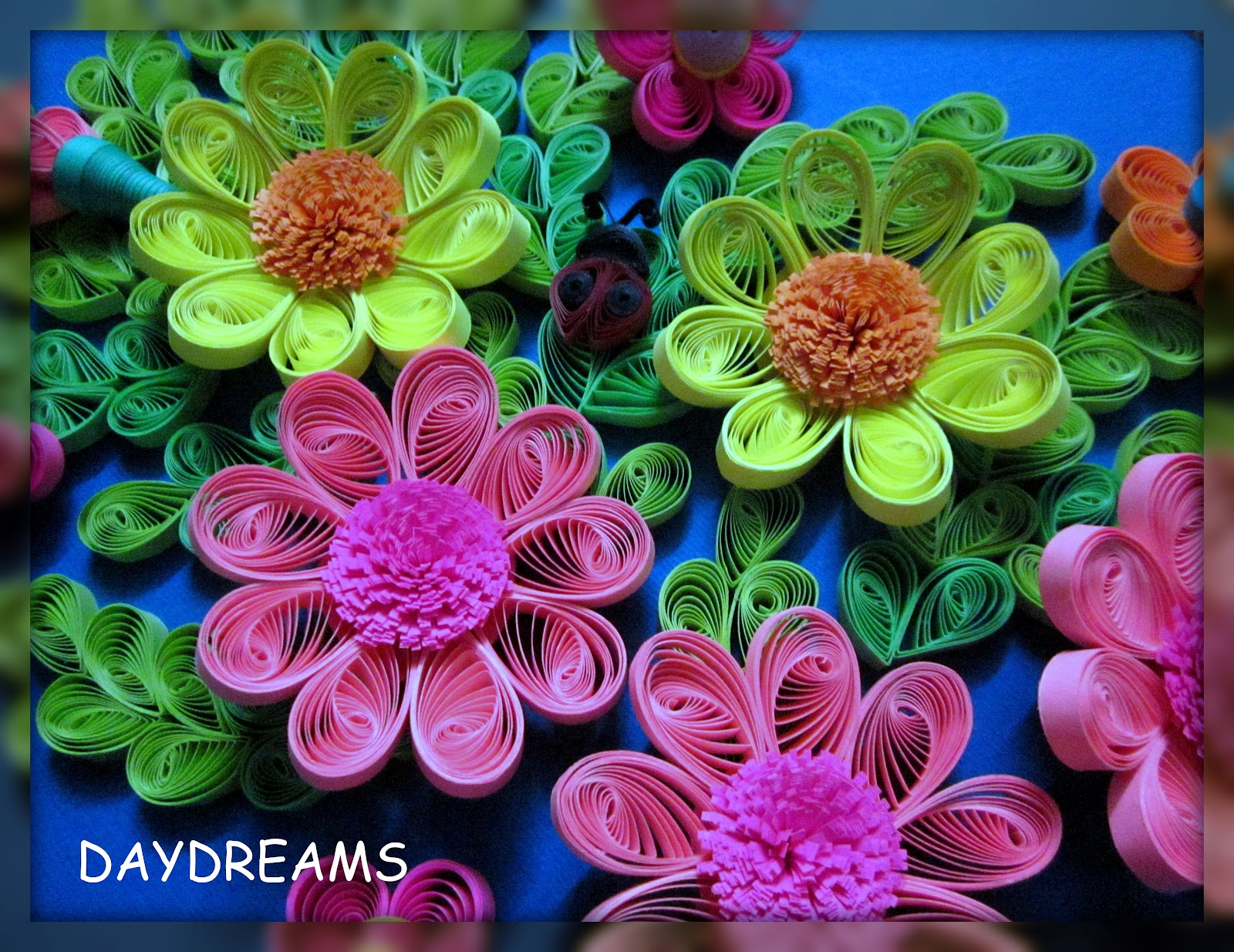 Daydreams Quilled Flowers Framed Work