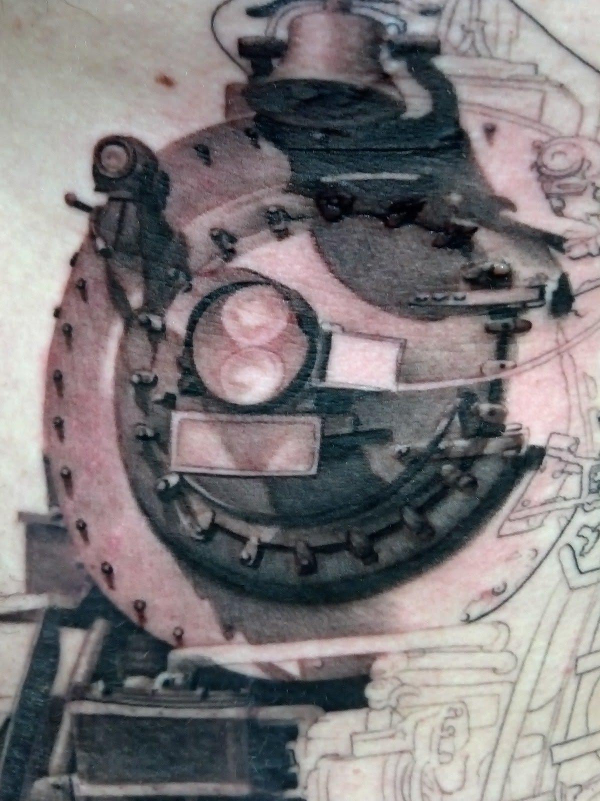 locomotive tattoo. Black Bedroom Furniture Sets. Home Design Ideas