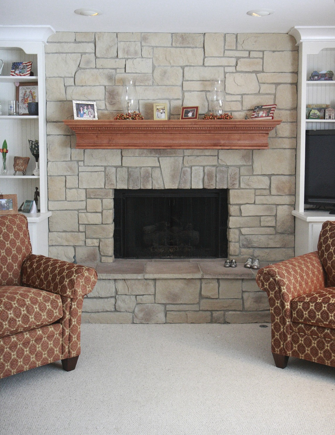 North star stone stone fireplaces stone exteriors for Stones for fireplaces
