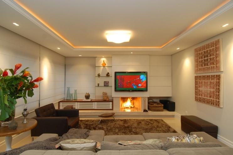 Decoracao De Sala Com Lareira E Tv ~ decoração de sala pequena com lareira de cantoIdéias de decoração