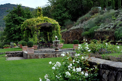 Garden at Capannelle in Gaiole in Chianti, Italy - Photo by Taste As You Go