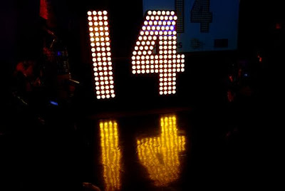 Angka 14 di Times Square New York (foto: onislam.net)