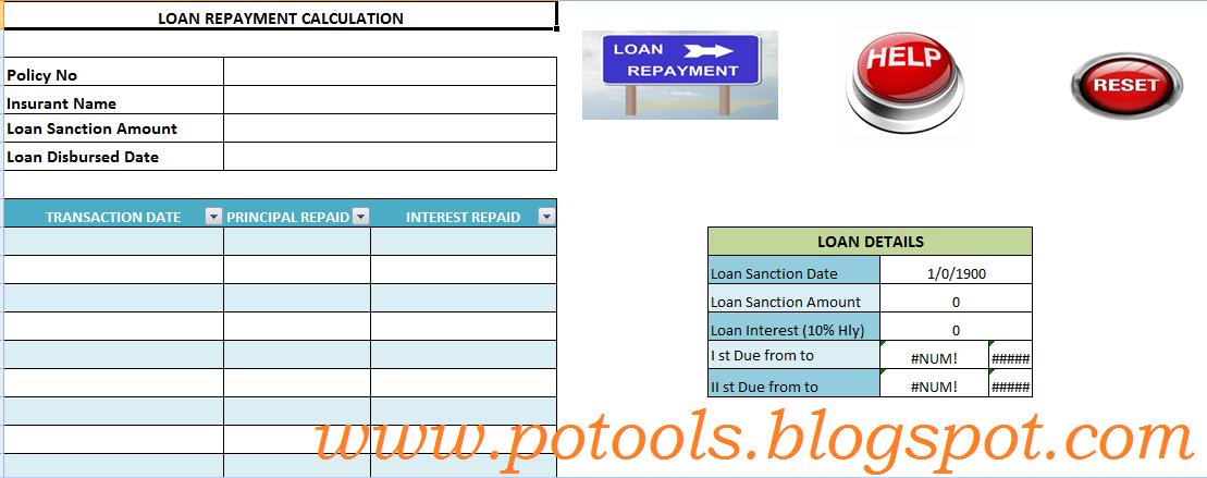 REVISED LOAN REPAYMENT CALCULATOR FOR PLI ~ SA POST ODISHA