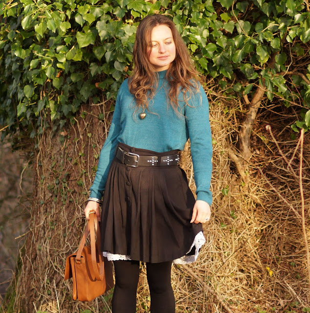 Teal and a whimsical skirt