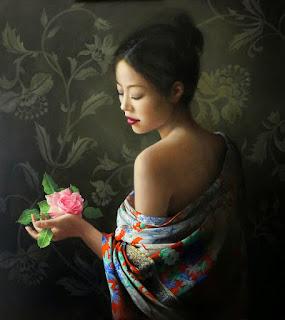 Mujeres Cuadros de Flores