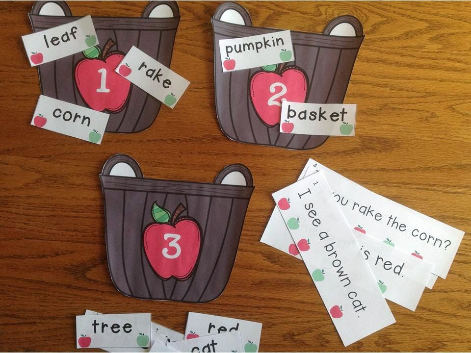Apple Basket Syllable Sort and Fluency Strips