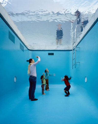 crazy shape swimming pools creating the illusion of a real swimming pool this amazing work by argentinian artist leandro erlich called the swimming pool - Crazy Swimming Pools