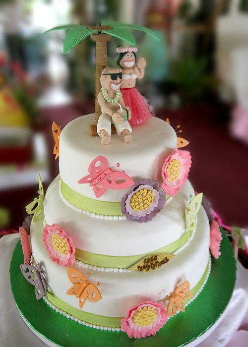 Hawaiian Themed Wedding Cake Toppers
