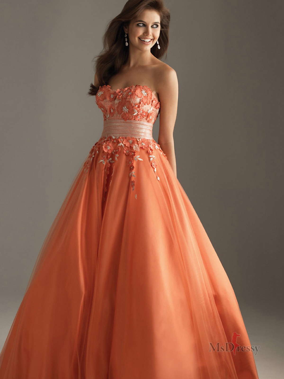 prom dress orange prom dresses orange dresses for prom