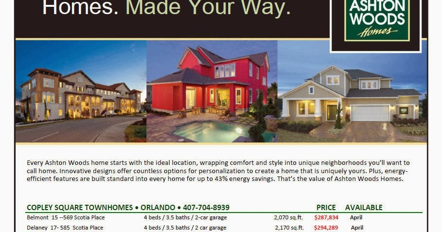 Ashton Woods Spec Homes Released At Reduced Prices